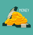 coins and bills dollars money vector image vector image