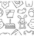 collection stock of baby theme doodles vector image vector image