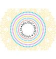 colorful abstract circles vector image vector image