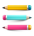 colorful pencils pencil symbols set isolated on vector image vector image