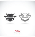 cow face design on white background farm animals vector image vector image