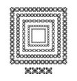 cross brush patterns in a square line black shape vector image vector image