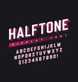 display font design with halftone shadow vector image vector image