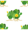eastern prickly pear cactus with yellow vector image