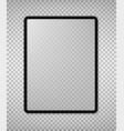 empty screen new tablet mockup design vector image vector image