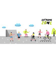 extreme sports poster banner brochure teenagers vector image vector image
