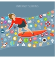 Fast speed mobile internet surfing vector image vector image