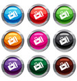 flashlight set 9 collection vector image vector image