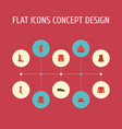 flat icons pompom swimming trunk evening dress vector image vector image