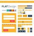 Flat web and mobile design elements buttons icons vector image vector image