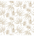 flying dandelion seamless pattern for vector image vector image