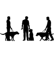 Guide dog vector image vector image