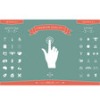 hand click icon vector image vector image