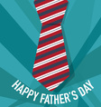 Happy fathers day card design with Big Tie vector image
