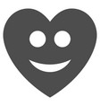 happy love heart flat icon vector image
