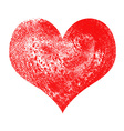 Heart painted and textured vector image