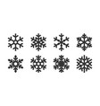 icon set snowflake variety image vector image vector image