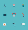 icons flat style compasses bezier curve vector image vector image