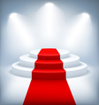 Illuminated Festive Stage Podium on White vector image vector image