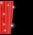 image of red curtain vector image