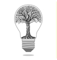 Isolated eco bulb vector image