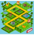 Isometric Zoo Park vector image vector image