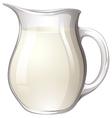Jar of milk vector image vector image