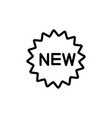 line new badge icon on white background vector image