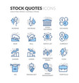 line stock quotes icons vector image vector image