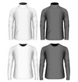 mens long sleeve t-shirt vector image vector image