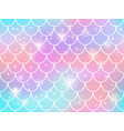 mermaid scales pattern rainbow princess mermaid vector image vector image