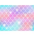 mermaid scales pattern rainbow princess vector image
