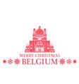 Merry Christmas Belgium vector image vector image