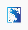 modern forest wolf animal logo vector image vector image