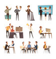 online meeting icons set vector image vector image