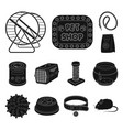 pet shop black icons in set collection for design vector image vector image