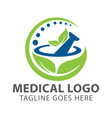 pharmacy medical logo vector image vector image