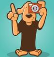 Photographer Dog vector image