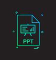 ppt file file extension file format icon design
