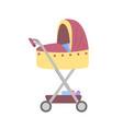 pram for newborn kid stroller with baboy vector image