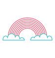 rainbow clouds fantasy sweet decoration vector image vector image