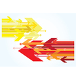 Red and yellow arrows vector image vector image