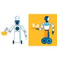 restaurant robotic personnel flat vector image vector image