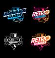 retro flashback gamers gradients version vector image vector image
