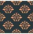 Retro seamless pattern with orange flowers vector image