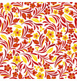 russian ethnic on seamless plants pattern vector image vector image