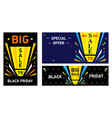 set banners black friday big sale vector image vector image