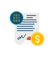 smart contract concept icon vector image vector image