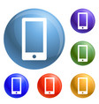 smartphone icons set vector image vector image