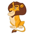 Smiling lion sitting 2 vector image vector image